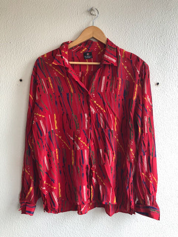 Paint Silk Blouse - S/M