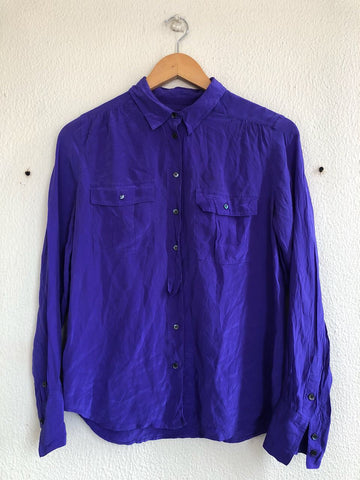 Purp Silk Blouse - M