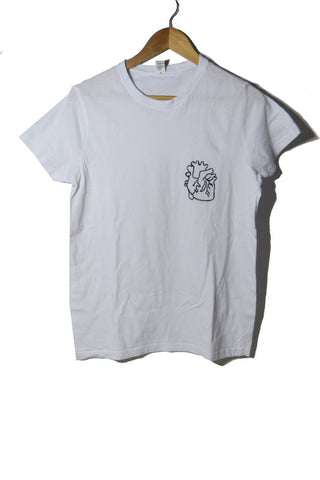 Heart Embroidered Tee
