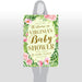 Baby Shower Welcome Sign Spring Wreath - Size 24x36
