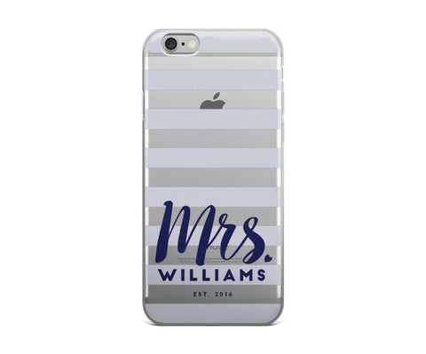 Custom Mrs. iPhone - Navy