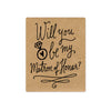 Matron of Honor Proposal Wine Labels - Kraft