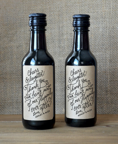 Mini Wine Labels - Kraft