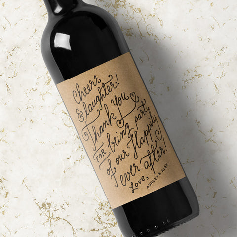 Custom Wine Labels - Kraft
