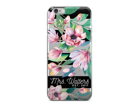 Black Magnolias iPhone Case