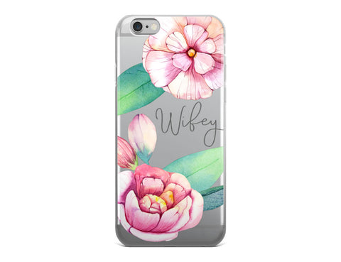 Wifey iPhone Case - Pink Blossoms