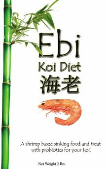 Blackwater Ebi Koi Food Diet - Shrimp Based Sinking Pellet - 2 lb Bag