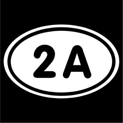 2nd Amendment Oval - Vinyl Decal
