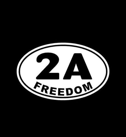 2nd Amendment Freedom Oval 2A Vinyl Decal