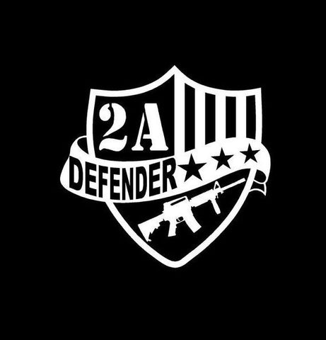 2nd Amendment Defender Badge Vinyl Decal
