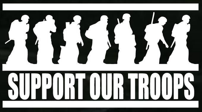 Support Our Troops - Vinyl Decal