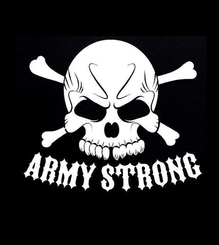 Army Strong Skull - Vinyl Decal