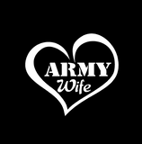 Army Wife Heart Vinyl Decal
