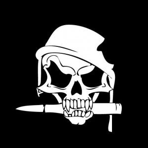 Army Skull Helmet Vinyl Decal