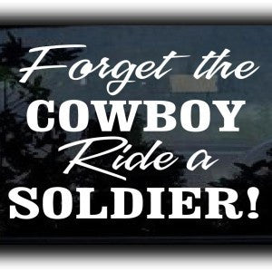 Ride A Soldier Vinyl Decal