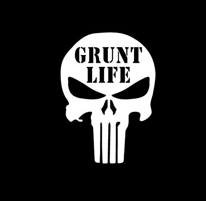 Punisher Skull Grunt Life - Vinyl Decal