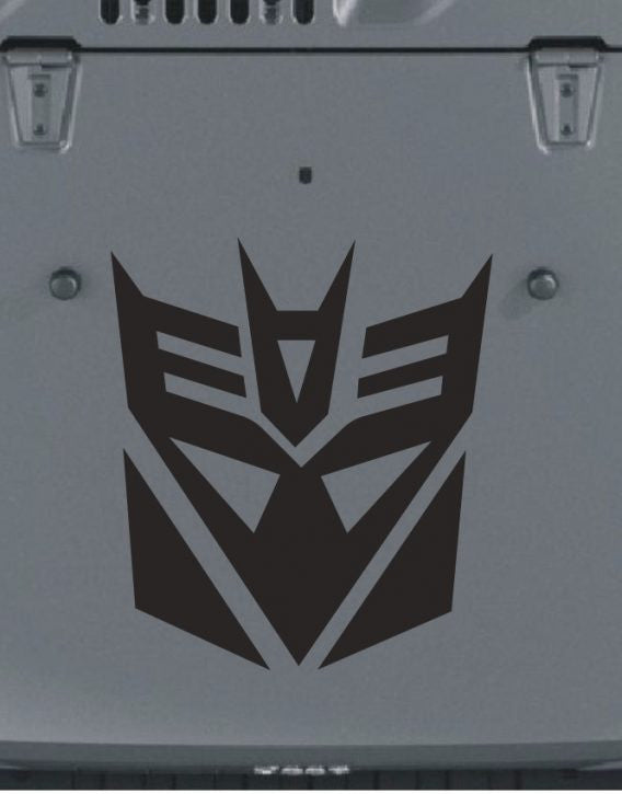 Jeep Hood Decepticon Vinyl Decal
