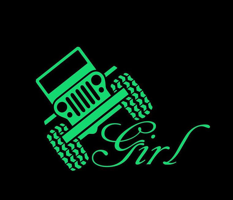 Jeep Girl - Vinyl Decal