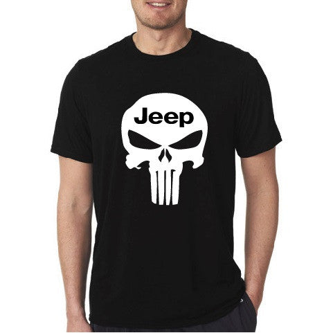 Jeep Punisher Skull Short Sleeve Tees - Black T-shirt