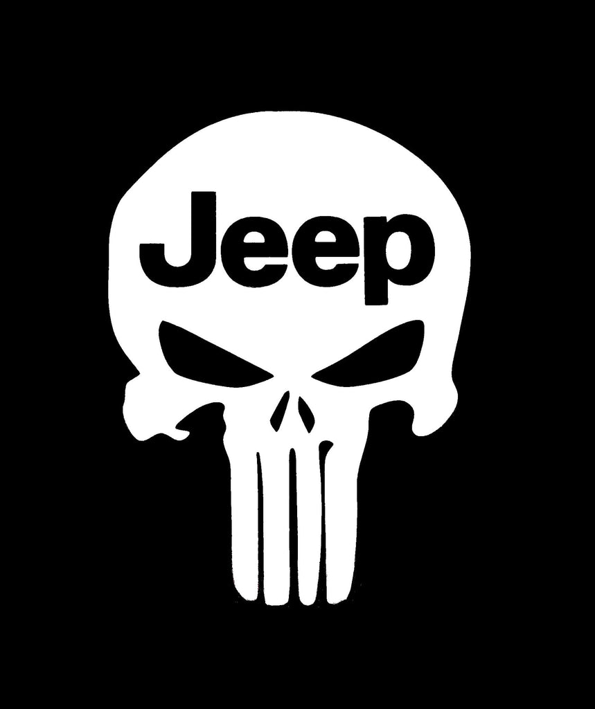 Jeep Punisher Skull - Vinyl Decal