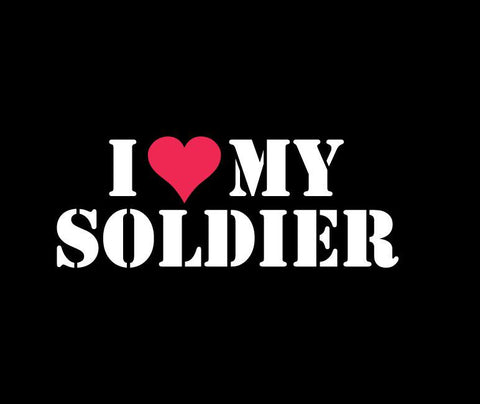 Army Love Soldier - Vinyl Decal