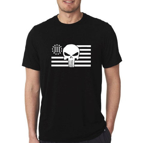 Punisher 3 Percenter 3% - Short Sleeve Mens  Black T-shirt