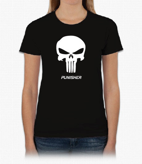 Punisher - Short Sleeve Womans Black T-shirt