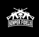 Punisher Semper Fidelis Crossed AR Vinyl Decal