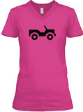 Jeep It - Womens V Neck T-Shirt - Double Sided Print