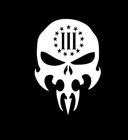 3 Percenter Skull - Vinyl Decal