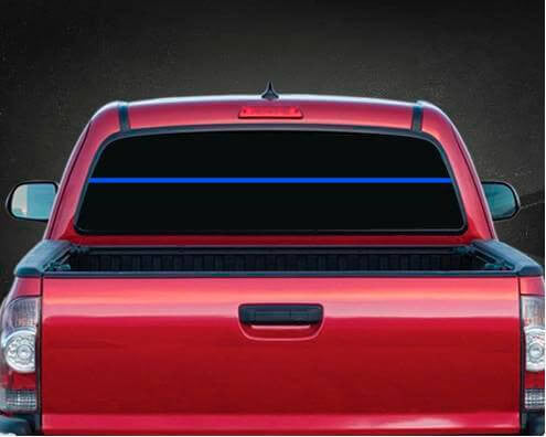 Thin Blue Line Rear Window Vinyl Decal