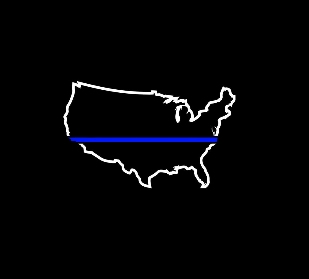 Thin Blue Line - Blue Lives Matter2 - Vinyl Decal