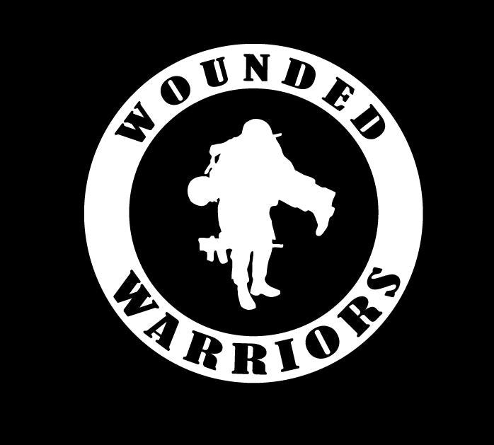 Wounded Warriors Round Military Vinyl Decal