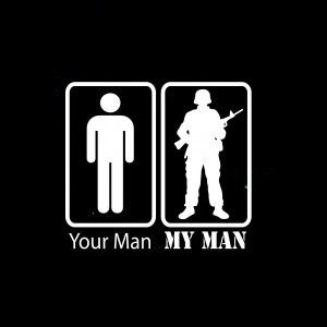 Your Man, My Man Military Vinyl Decal