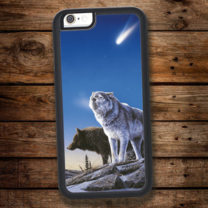 Wolves & Comet iPhone Case
