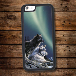 Wolves & Aurora iPhone Case