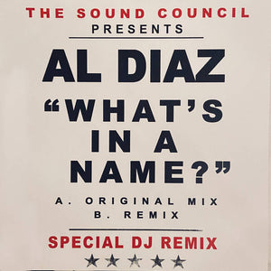 "Al Diaz ""What's in a Name?"" - Unreleased Music"
