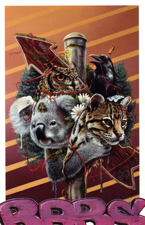 "3rd Version ""Family Is Not Blood"" - Hand-Embellished Unique Print, #1/11 - 11 x 17"""