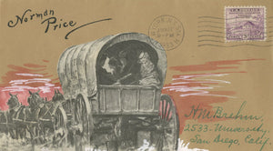 Norman Mills Price - Signed Custom Postal Cover