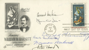 Norman Rockwell, Jamie Wyeth & 5 Other Icons - Signed First Day Cover - 1969
