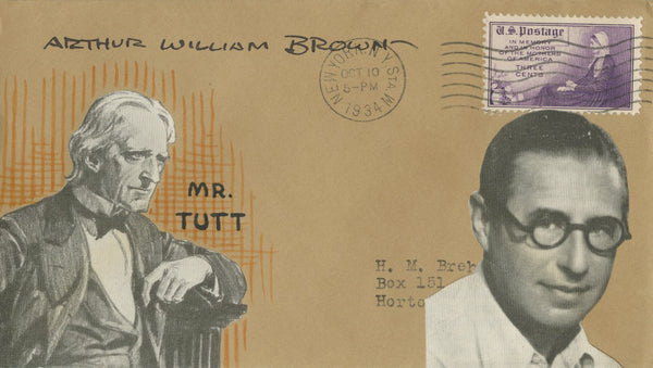 Arthur William Brown - Signed Custom Postal Cover