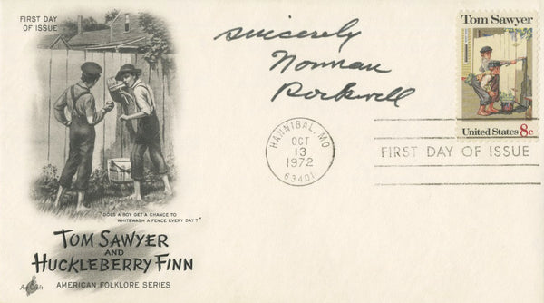 Norman Rockwell - Signed First Day Cover - 1972