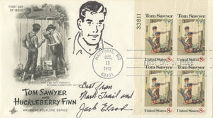 "Jack Elrod - ""Mark Trail"" - Signed First Day Cover w/ Sketch"