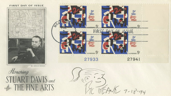 "Bil Keane - ""Family Circus"" - Signed First Day Cover w/ Sketch"