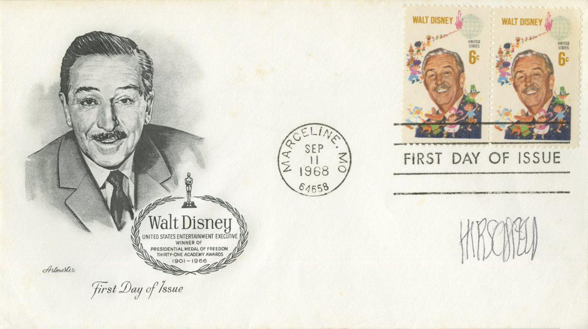 Al Hirschfeld - Signed First Day Cover