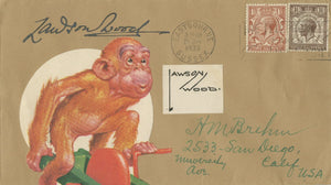 Lawson Wood - 'Gran'pop' - Signed Custom Postal Cover