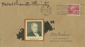 Howard Chandler Christy - Signed Custom Postal Cover