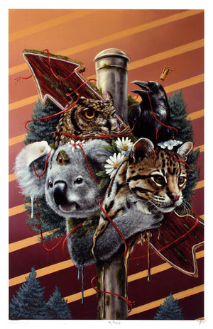 "3rd Version ""Family Is Not Blood"" - Hand-Embellished Unique Print, #10/11 - 11 x 17"""