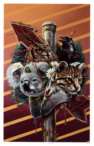 "3rd Version ""Family Is Not Blood"" - Hand-Embellished Unique Print, #11/11 - 11 x 17"""