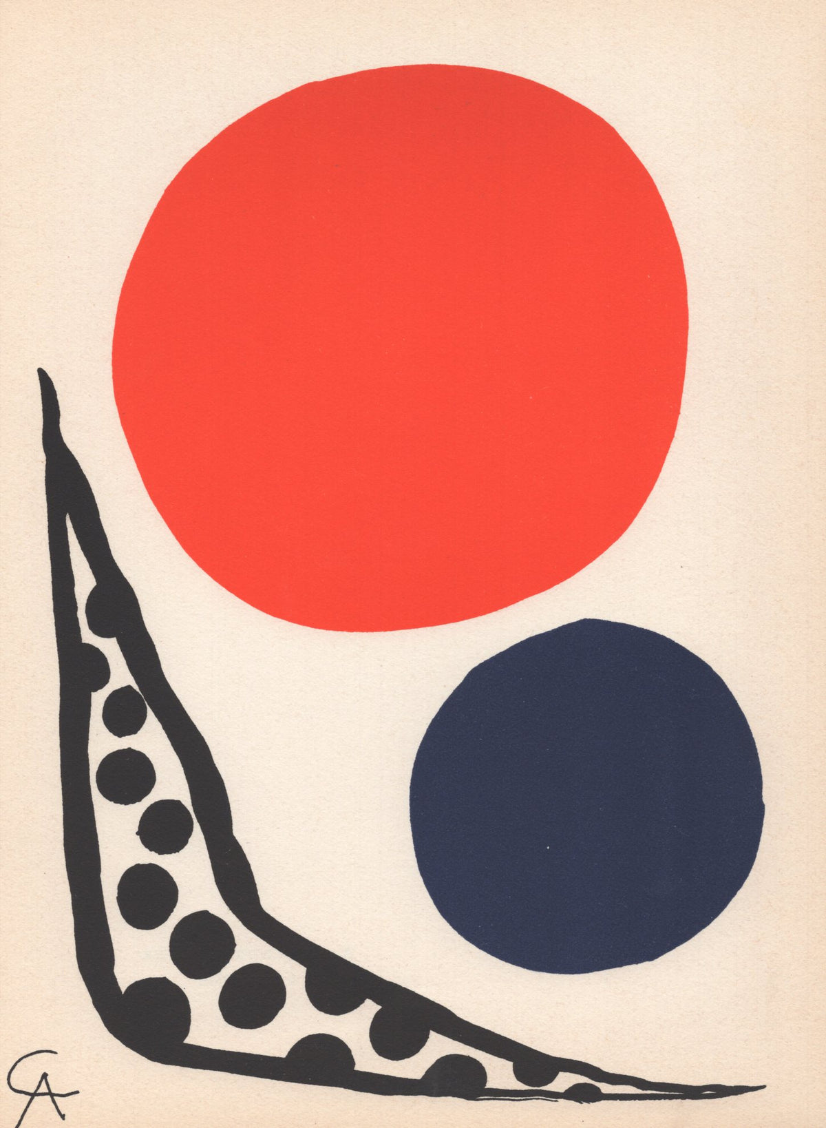 "Alexander Calder - ""Composition"" - Mourlot Press 1964 Lithograph - 7.5 x 10"""